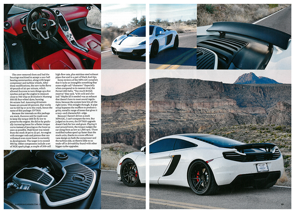 Fabspeed Equipped Mp4 12c Featured In European Car Magazine