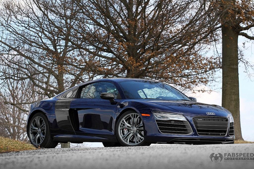 Blue Audi R8