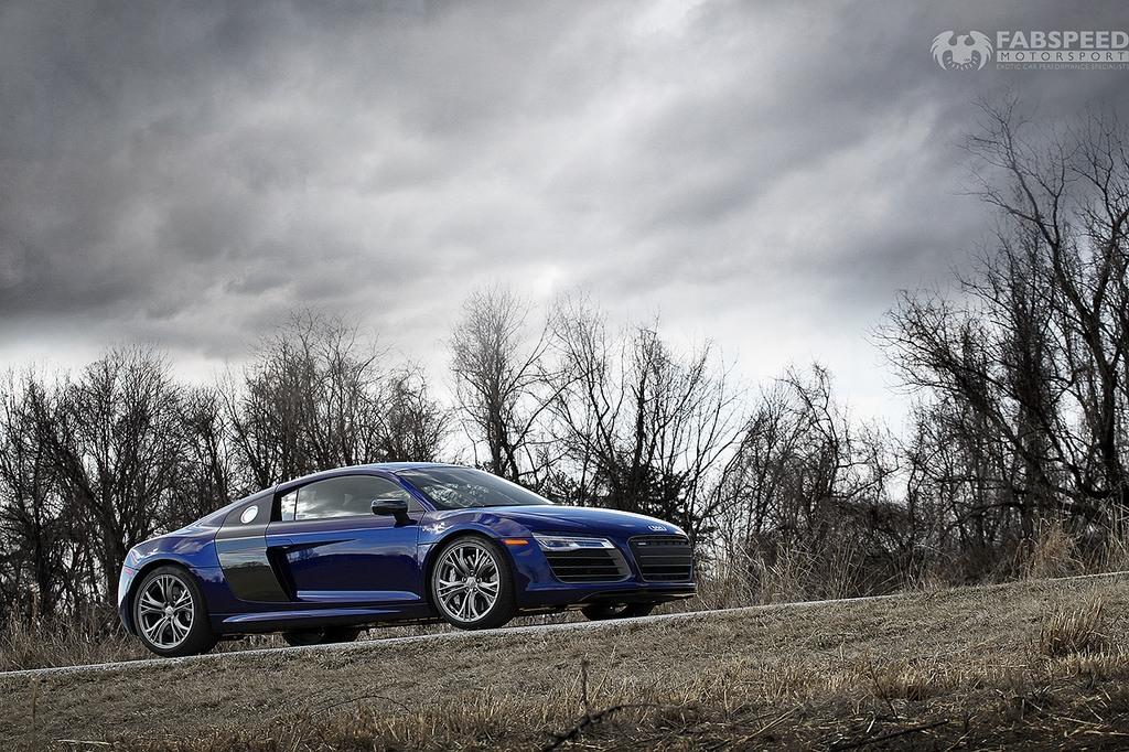 Blue Audi R8 Side