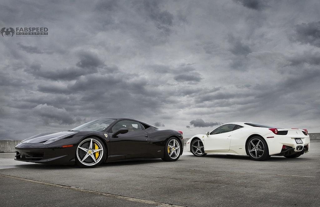 Two Ferrari 458's