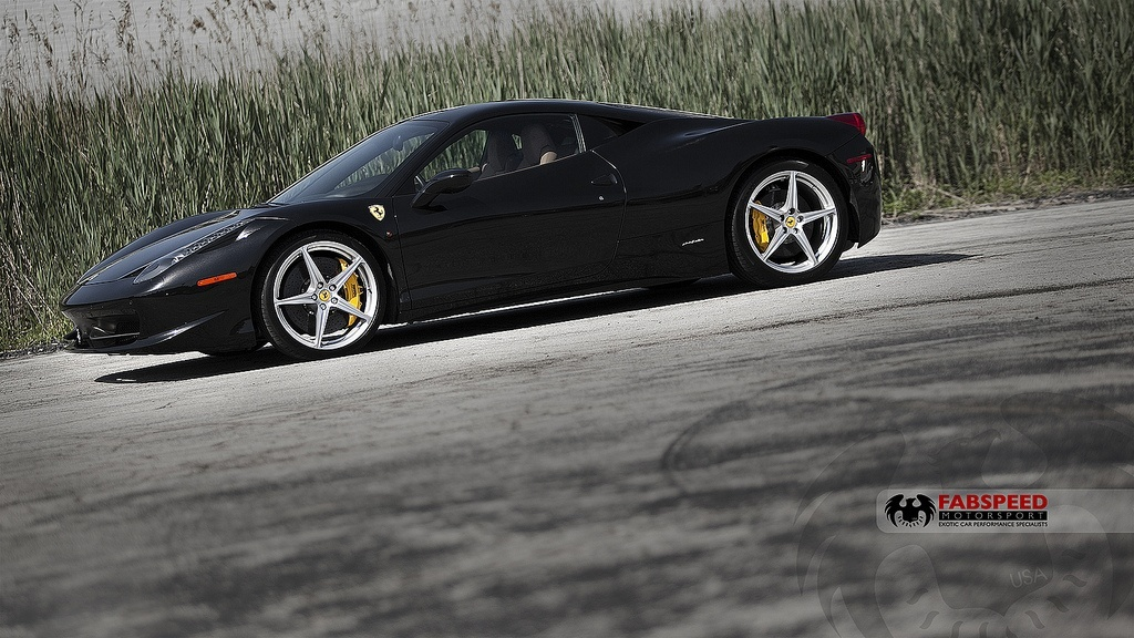 Black Ferrari 458