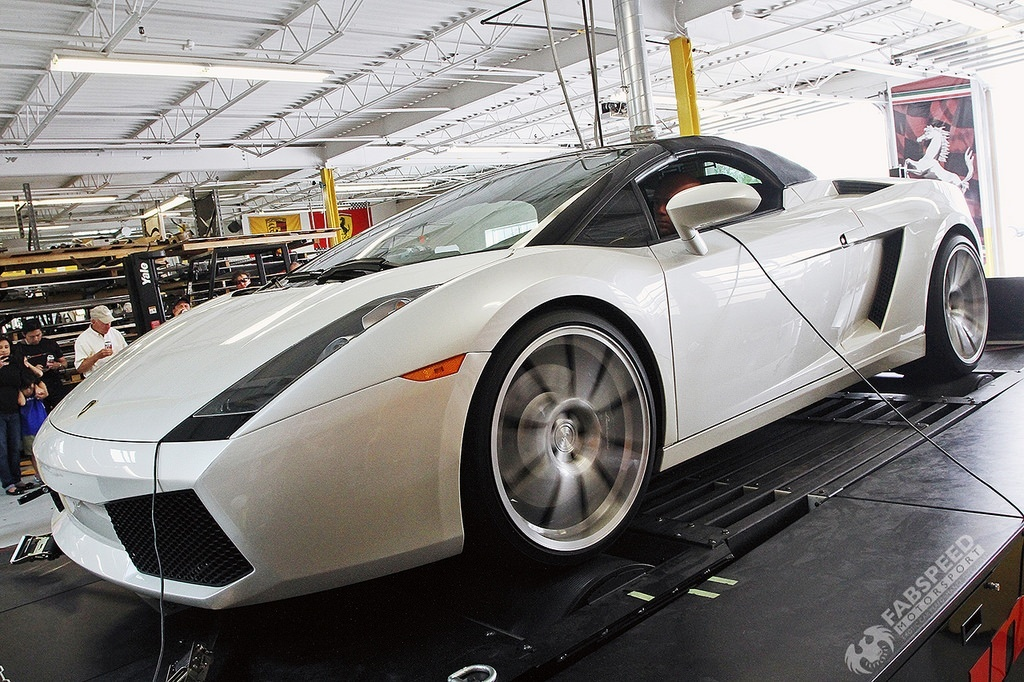 Lamborghini Gallardo Spyder Dyno
