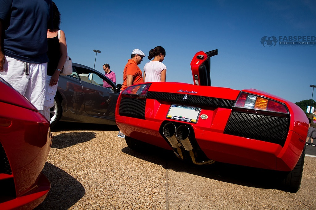 Red Lamborghini Murcielago