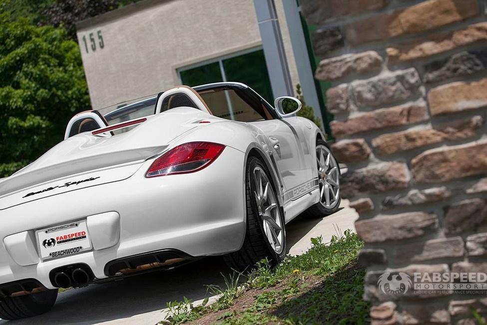 Porsche 987.2 Boxster Spyder Rear Angle 2