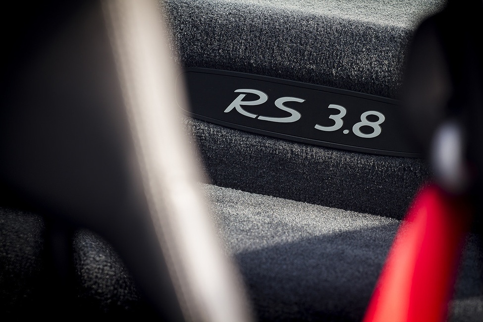 Porsche GT3 RS 3.8 interior badge